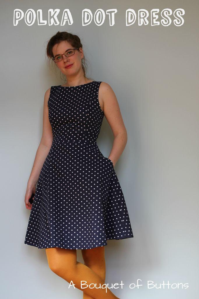 Polka dot dress - zwierige knipmode jurk van Lelie