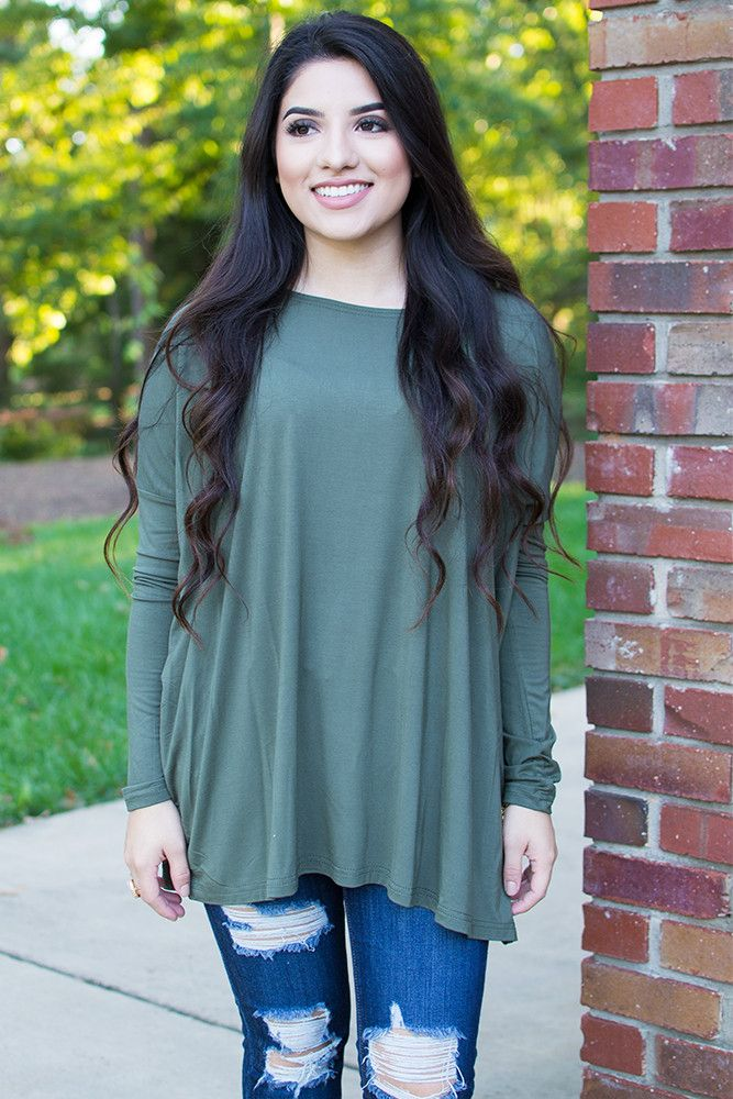 PIKOut your favorite PIKO! Everybody's favorite must-have top is back and in SO many colors! Add this army green colored boatneck top to your wardrobe for undeniable beauty and all day comfort! Dress
