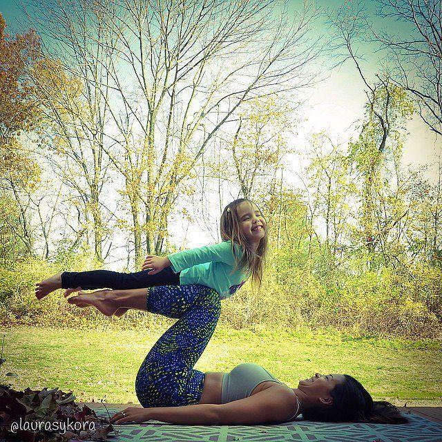 Mom and Daughter Yoga Photos   POPSUGAR Fitness