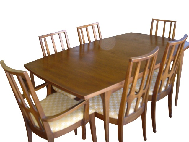 Broyhill Brasilia Dining Table And Chairs Original Table Pads - Broyhill farmhouse dining room table