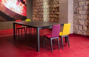 Senna table céramique vitre 35 rennes metal bois epoxy discalsa