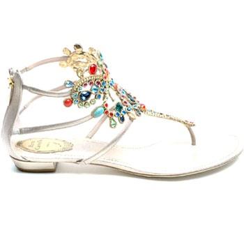 レネ・カオヴィラ(RENE CAOVILLA)ビジュー トングサンダル シルバーマルチ sandal