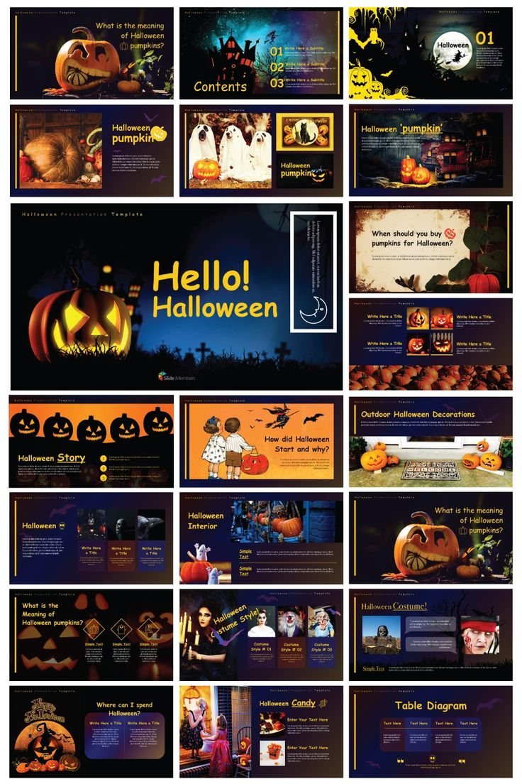 Fall Season presentation templates and backgrounds for