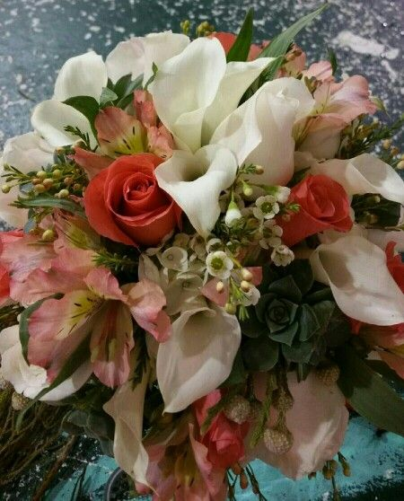 Collection of the bride's favorite floral.