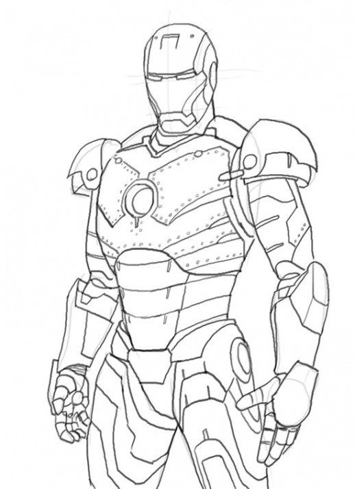 Iron Man Colouring In Pages download