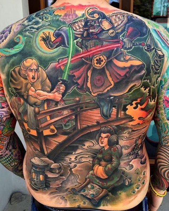 21 best star wars back tattoo images on pinterest war for Japanese war tattoos