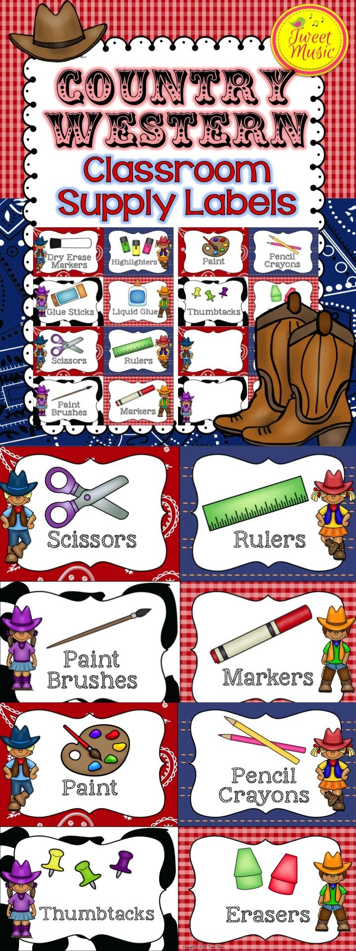 Yeehaw! Decorate your classroom this year with this adorable Country Western themed decor. Editable options included! This bundled set is sold individually and as part of a bundled set. $
