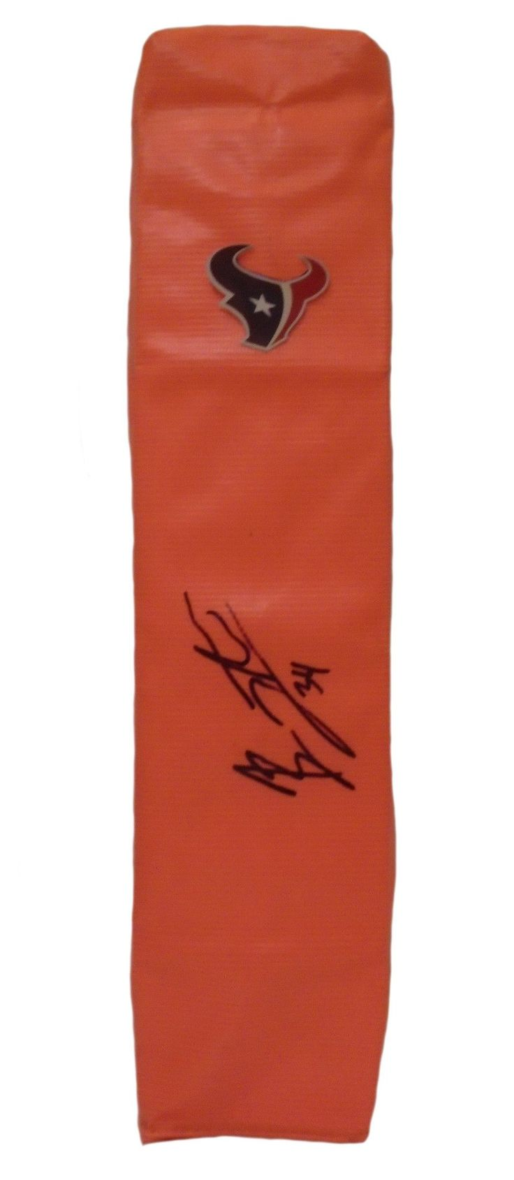 Ben Tate signed Houston Texans full size football touchdown end zone pylon w/ proof photo.  Proof photo of Ben signing will be included with your purchase along with a COA issued from Southwestconnection-Memorabilia, guaranteeing the item to pass authentication services from PSA/DNA or JSA. Free USPS shipping. www.AutographedwithProof.com is your one stop for autographed collectibles from Auburn Tigers & NCAA sports teams. Check back with us often, as we are always obtaining new items.