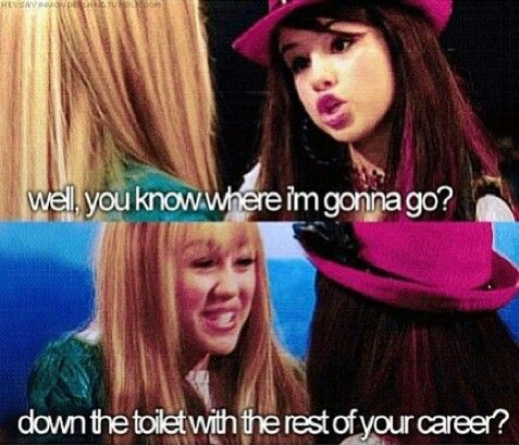 I love this line.. Hannah Montana really knew how horrible Selena Gomez is haha :) But seriously this would be me if I ever met Selena Gomez :D