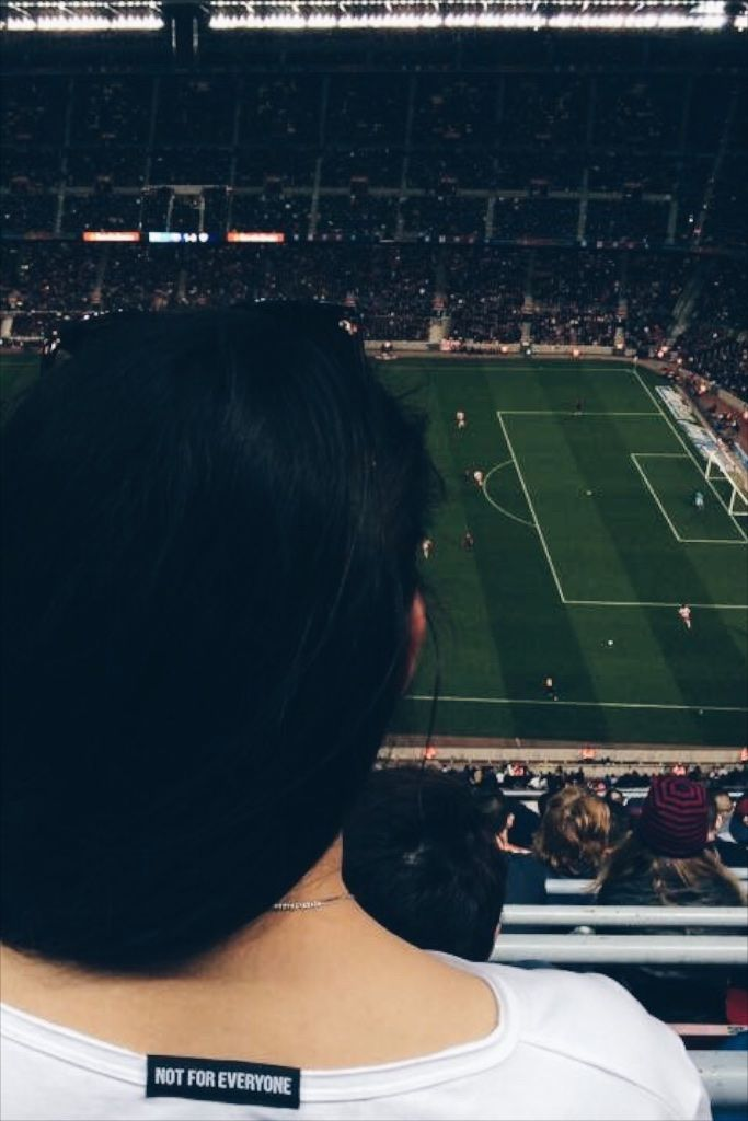 Wearing ABIDELESS during FC Barcelona game :) #barca #FC #ABIDELESS #Barcelona #girl #ball #game