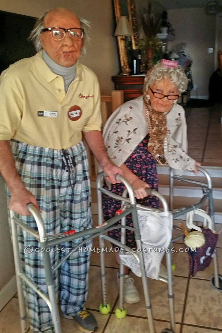 Old Folk Couple Costume... Coolest Halloween Costume Contest