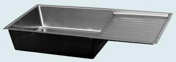Stainless Steel Drainboard Sinks # 3735