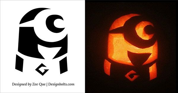 10 Best Free Minion Pumpkin Carving Stencils / Patterns & Ideas ...