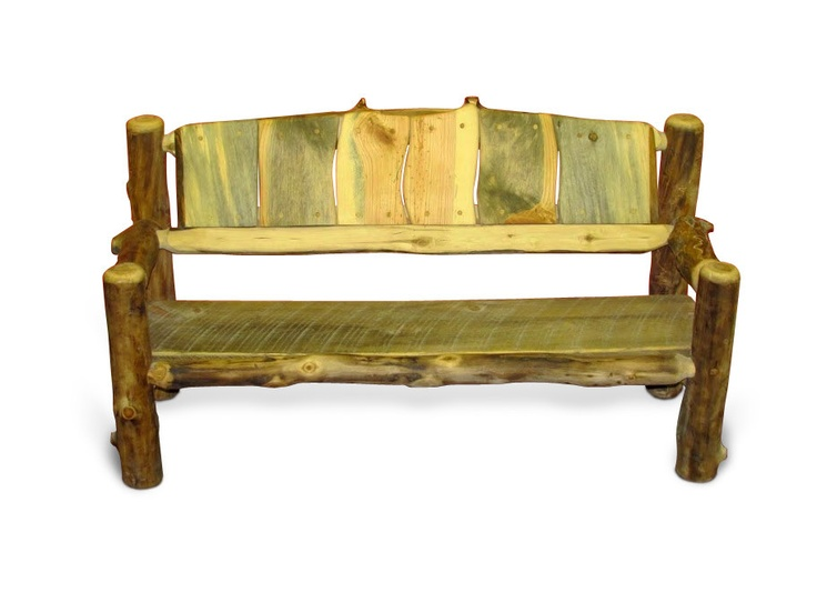 Rustic Wood Bench Made From Aspen Logs Sustainable Childrens Furniture Rustic Furniture From