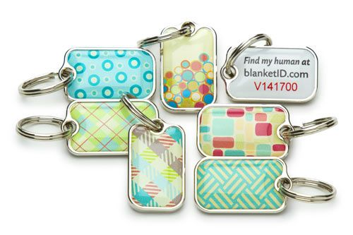 I love these pet tags w/online pet finder services by www.BlanketID.com So many styles to choose from.