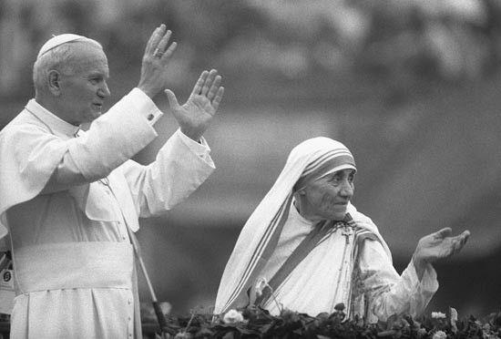 JUAN PABLO II y Madre Teresa de Calcuta