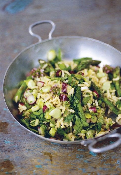 Eat Your Vegetables: Make Nigel Slater's Asparagus Pilaf Recipe From His New Cookbook, Tender   Blisstree