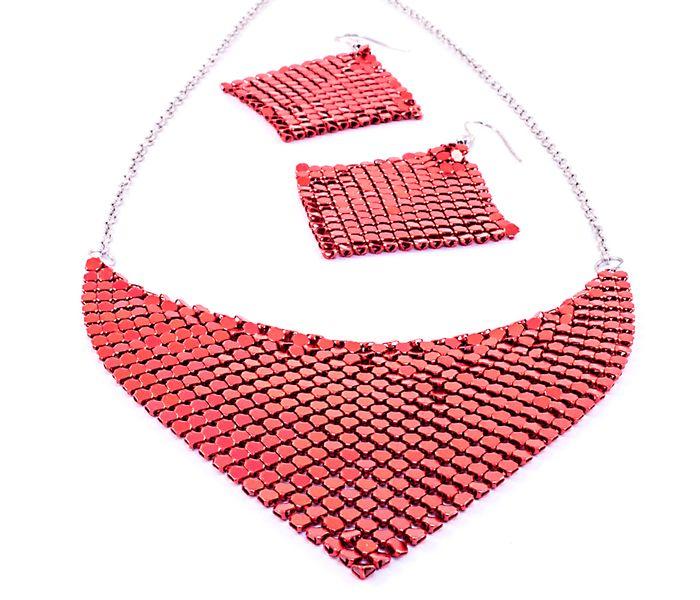 Bizsu Szettek Orical ezüst piros