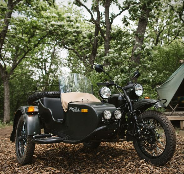 Carry your gear in style on your next adventure ride with the Ural Sportsman Package Camp Wandawega Edition motorcycle. The Gear-Up Sportsman model provides you space for your everyday needs, whether its camping gear, food, or other bulky stuff, you´