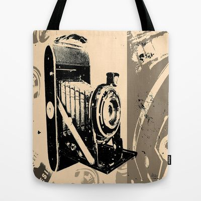 Camera Vintage by André Pillay - Tote Bag available on Society6  #bags #fashion #society6 #totebag