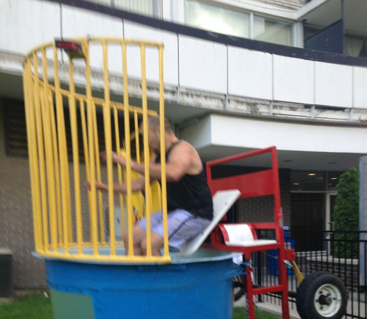 The next Torontonian #BBQ #party is coming soon! Here's a flashback to last year's event with Shiplake's own Eugene Hankin taking a dive in the #dunktank! #summerfun #lifestyled www.shiplake.com