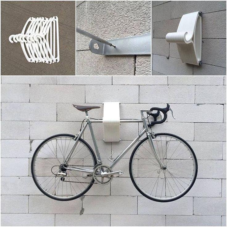 DIY Bike Rack Hanger- How cool is this?                              …