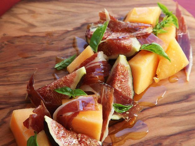 Fig, Melon, and Spanish Ham Salad With Basil