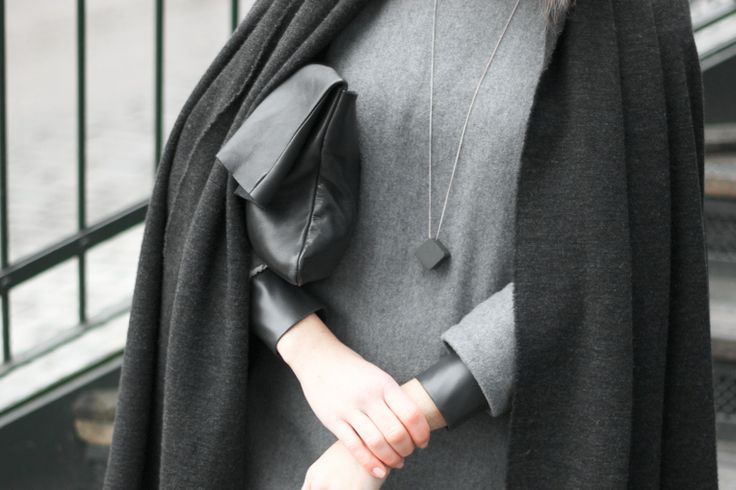 Wearing Wool & Cashmere dress, Leatherette cuff blouse and Shawl coat. Shop here: meandm.bigcartel.com