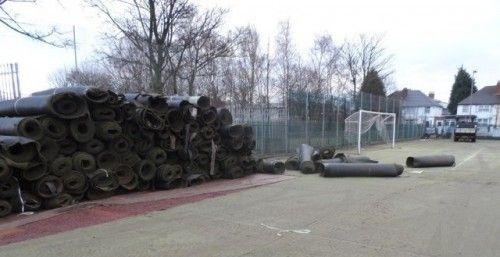 Resurfacing Artificial Football Pitch in Bedhampton #Football...