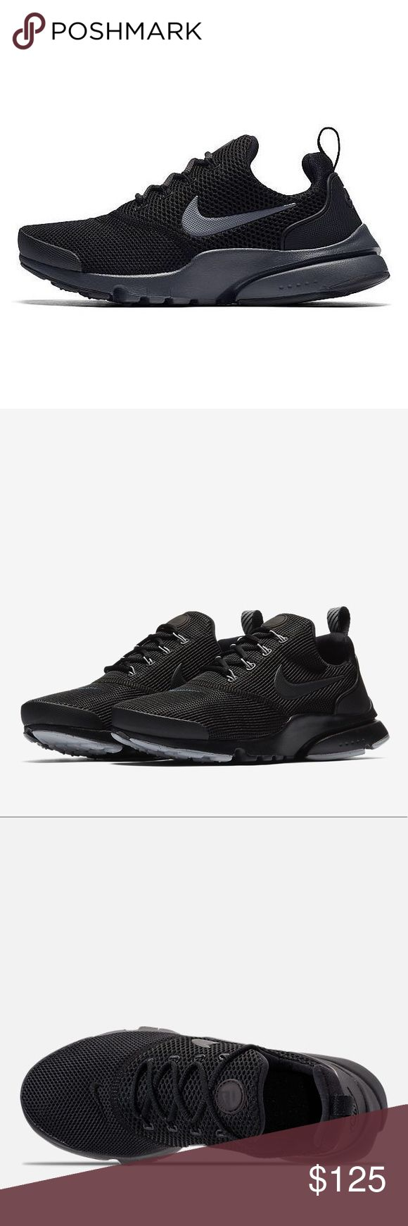NIKE PRESTO FLY ALL BLACK WOMENS RUNNING SHOES Brand new without box. Shoes are a size 7 youth which converts to a women's size 8.5. I have added a sizing chart for your convenience. 100% authentic directly from Nike. Ships out same day or very next. Nike Shoes Sneakers