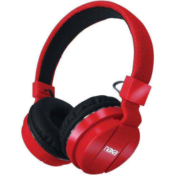 Naxa Bluetooth Wireless Stereo Headphones With Microphone (red)