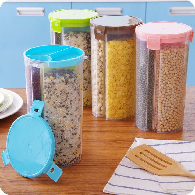 2016 новые пластиковые PP домашняя кухня организатор холодильник еды герметичные банки ящики для хранения крышка бункеров пищевых контейнеры бутылки