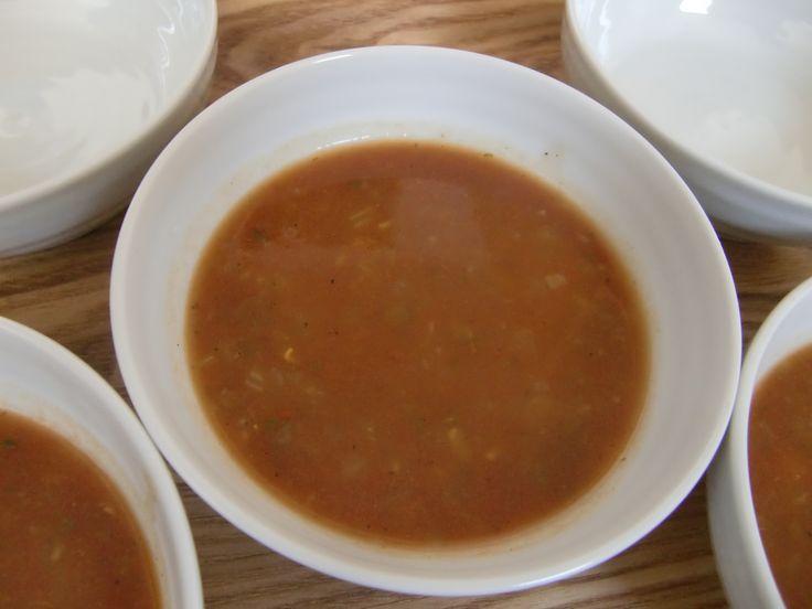 2014年6月のたまねぎ食堂(モロッコ料理)で提供しましたスープ「ハリラ」です!!