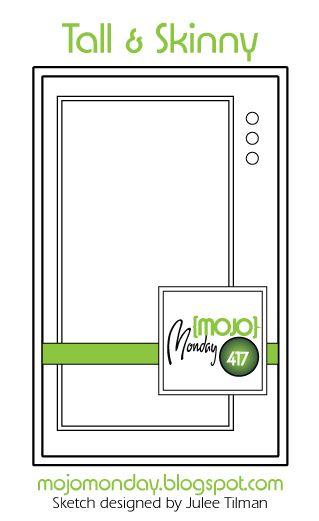 Mojo Monday 417 Card Sketch Sketch designed by Julee Tilman #mojomonday #cardsketches #sketchchallenge #vervestamps