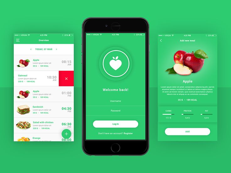 FitApp Dribbble