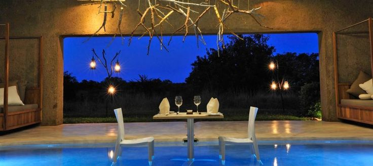 Sabi Sabi Earth Lodge This eco friendly lodge is expertly designed using natural materials and blends in beautifully with the surrounding African wilderness. An award winning health spa, meditation garden, and wildlife art gallery are unique features of the lodge. Each suite has its own private splash pool.