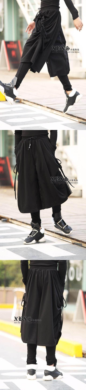2017 Men's clothing fashion male culottes vampish ruslana korshunova personality loose skorts bloomers The singer's clothing