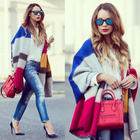 blanket poncho style, What to wear in Thanks-giving day http://www.justtrendygirls.com/what-to-wear-in-thanks-giving-day/