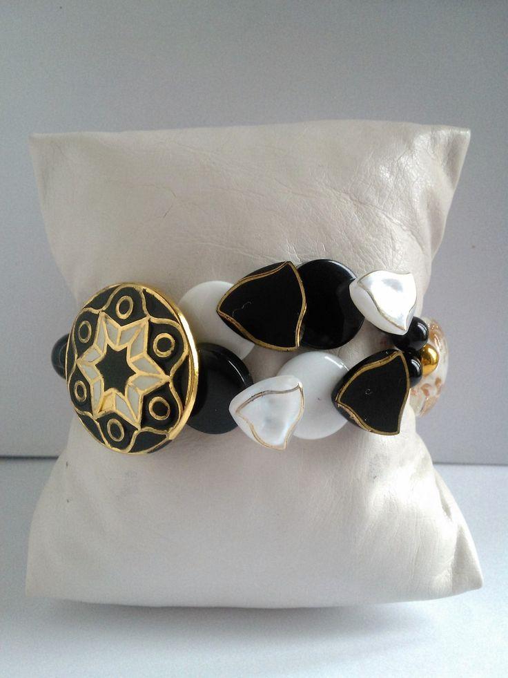 """Nouveauté femme bracelet """"Mosaïque étoilée """" unique et fait main : Bracelet par les-creations-uniques-de-michel-nala"""