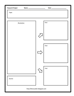 """""""All About"""" Kindergarten and Primary Research Organizer - free printable"""