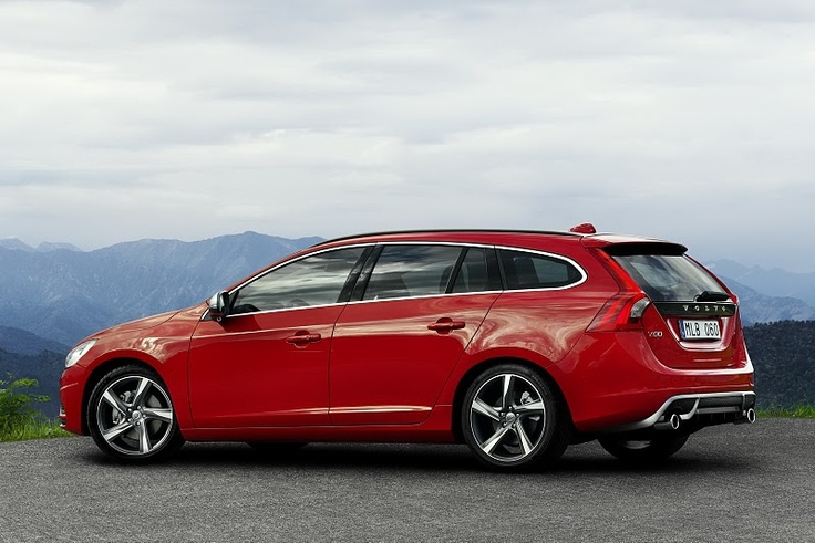 New Volvo V60 R-Design, would like one like this but my neighbour makes fun of red cars