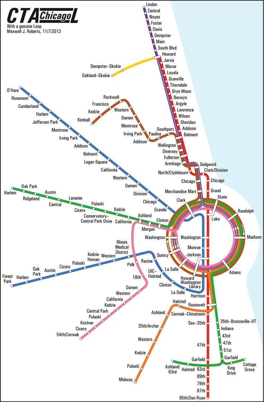 Loop de Loop | Maps // Commercial Real Estate | Chicago map, Subway ...