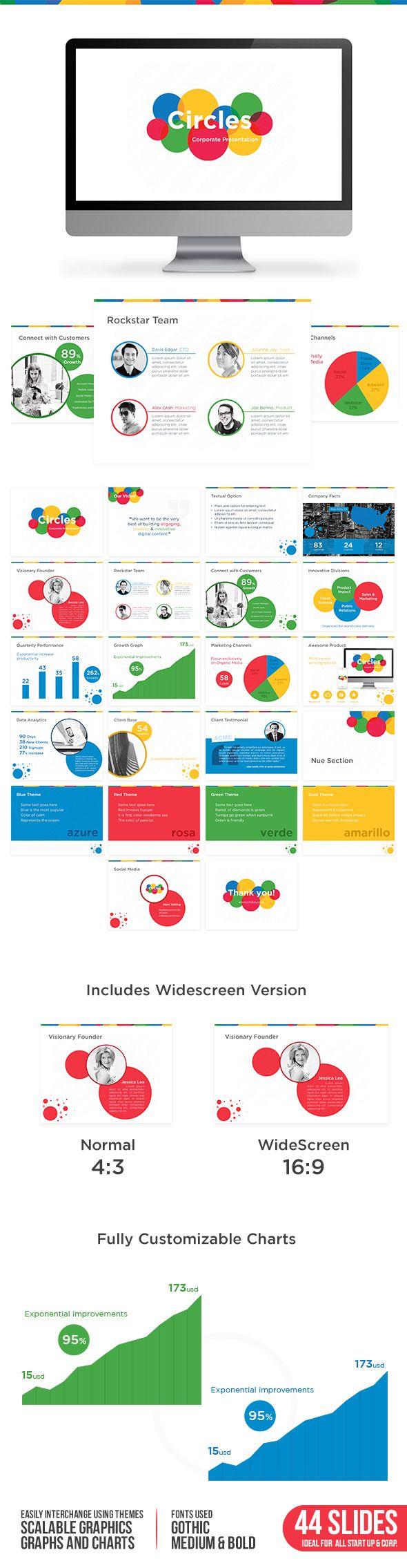 Circles PowerPoint Presentation Template #design #slides Download: http://graphicriver.net/item/circles-presentation-theme/13003449?ref=ksioks
