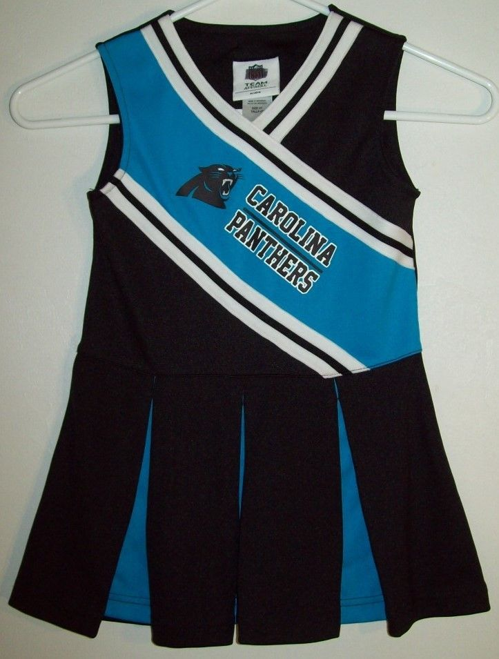 NFL Team Apparel Carolina Panthers Girl's 4T 4 T Dress Costume Cheerleading #NFLTeamApparel #Cheerleader #EverydayHolidayPartyCostume