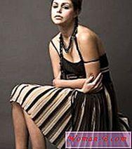 Móda: Pletené skládaná sukně