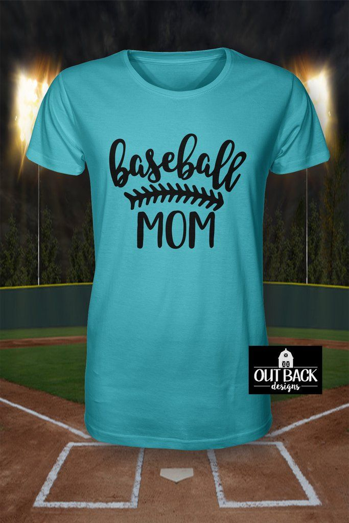 9105cccd3f529 Baseball/Softball Mom with Laces Vinyl T-Shirt   Out Back Designs ...