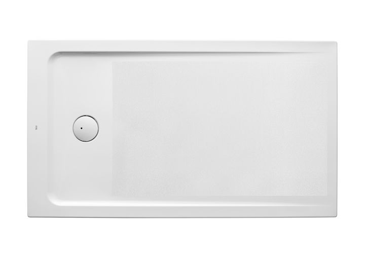 Plato de ducha acrílico extraplano con fondo antideslizante y juego de desagüe   Platos de ducha acrílicos   Platos de ducha rectangulares   Platos de ducha   Productos   Roca