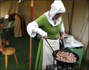 Great Resource for Medieval sweets and desserts  http://www.godecookery.com/allrec/allrec04.htm  Authentic Medieval Recipes  http://www.pbm.com/~lindahl/cariadoc/recipes_introduction.html