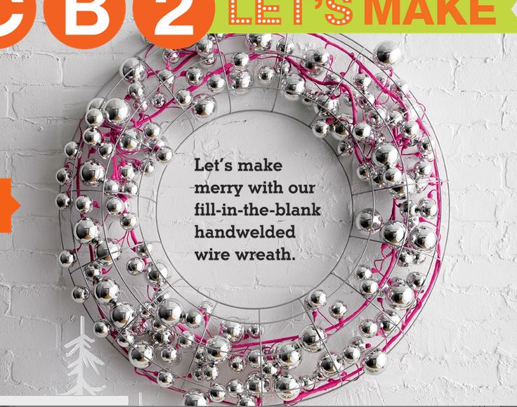 Fill The Blank Wreath Wire Wreaths Merry