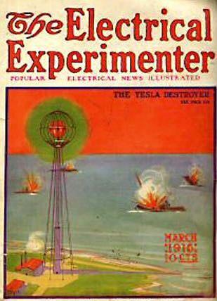THE TESLA DESTROYER:  MARCH 1916 ::: Nikola Tesla Death Ray exploding tanks :::